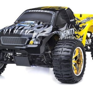 110-24Ghz-Exceed-RC-Infinitve-Nitro-Gas-Powered-RTR-Off-Road-Monster-4WD-Truck-Sava-Yellow-STARTER-KIT-REQUIRED-AND-SOLD-SEPARATELY-0