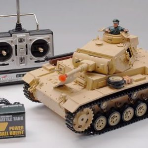 116-Scale-Tauch-Panzer-III-Real-RC-Airsoft-Battle-Tank-w-Smoke-and-Sound-New-0