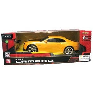 118-Scale-2011-Chevrolet-Camaro-RS-SS-Yellow-w-Black-Stripes-Radio-Remote-Control-Car-RC-0