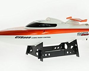 20-MPH-Fast-Speed-Boat-with-Second-battery-1995-value-for-extended-play-time-Water-Cooled-Motor-24-Ghz-450-Feet-Range-Self-Righting-Feature-Red-0