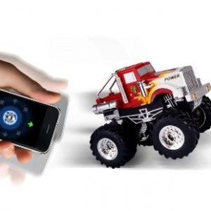 Dexim-DXA013B3-AppSpeed-Monster-Truck-for-iPhone-iPod-Touch-iPad-Red-0