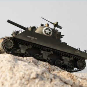 EXCLUSIVE-LIMITED-24-Ghz-RC-124-M4-Sherman-US-RC-Battle-Tank-with-Airsoft-Cannon-Sound-Lights-Multi-player-function-run-2-16-tanks-at-once-Green-with-hard-track-0