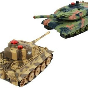 German-Tiger-vs-USA-M1A2-Abrams-Battle-Tank-RC-124-Infrared-Combat-Fighting-Tanks-with-Sound-Life-Indicator-0