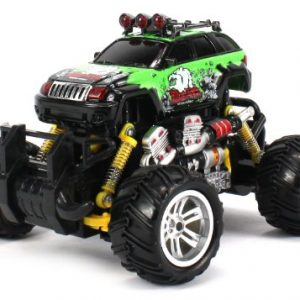 Graffiti-V2-Jeep-Grand-Cherokee-Electric-RC-Off-Road-Monster-Truck-118-Scale-4-Wheel-Drive-RTR-Working-Hinged-Spring-Suspension-Perform-Various-Drifts-Colors-May-Vary-0