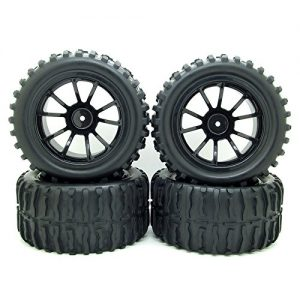 110-RC-Monster-Truck-Car-Wheel-Tyre-Tires-with-5-Spokes-Wheel-Rim-Black-RC-Parts-Pack-of-4-0