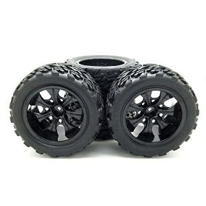 110-Rc-Monster-Truck-Car-Wheel-Type-Tires-with-7-Spokes-Wheel-Rim-Black-Rc-Parts-Pack-of-4-0