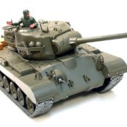 116-Remote-Control-Snow-Leopard-M26-Air-Soft-RC-Battle-Tank-Smoke-Sound-Upgrade-Version-w-Metal-Gear-Tracks-0-0