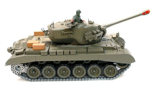 116-Remote-Control-Snow-Leopard-M26-Air-Soft-RC-Battle-Tank-Smoke-Sound-Upgrade-Version-w-Metal-Gear-Tracks-0-1