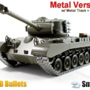 116-Remote-Control-Snow-Leopard-M26-Air-Soft-RC-Battle-Tank-Smoke-Sound-Upgrade-Version-w-Metal-Gear-Tracks-0