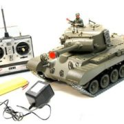 116-Remote-Control-Snow-Leopard-M26-Air-Soft-RC-Battle-Tank-Smoke-Sound-Upgrade-Version-w-Metal-Gear-Tracks-0-4