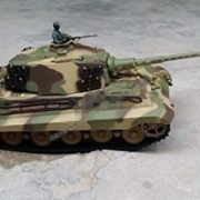 116-Scale-Radio-Remote-Control-German-King-Tiger-Henschel-Turret-Air-Soft-RC-Battle-Tank-Smoke-Sound-0-1