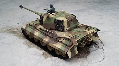 116-Scale-Radio-Remote-Control-German-King-Tiger-Henschel-Turret-Air-Soft-RC-Battle-Tank-Smoke-Sound-0-2