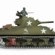 116-US-M4A3-Sherman-Tank-105mm-Howitzer-Air-Soft-RC-Battle-Tank-Smoke-Sound-Upgrade-Version-w-Metal-Gear-Tracks-0-0