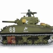 116-US-M4A3-Sherman-Tank-105mm-Howitzer-Air-Soft-RC-Battle-Tank-Smoke-Sound-Upgrade-Version-w-Metal-Gear-Tracks-0-1