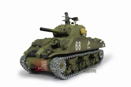 116-US-M4A3-Sherman-Tank-105mm-Howitzer-Air-Soft-RC-Battle-Tank-Smoke-Sound-Upgrade-Version-w-Metal-Gear-Tracks-0