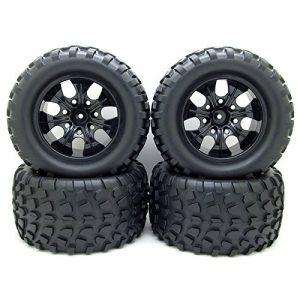 12mm-Hub-Wheel-Rim-Tires-110-Off-Road-RC-Car-Buggy-Tyre-w-Foam-Inserts-Black-Pack-of-4-0