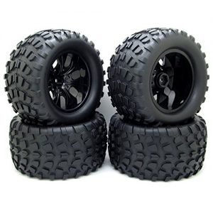 4x-130mm-RC-110-Monster-Truck-Bigfoot-Tyre-Tires-12mm-HEX-Wheel-Rim-Hub-for-HSP-0