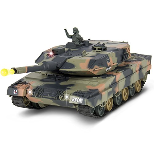 Best Choice Products 1:24 RC Battle Tank Airsoft Shooting ...
