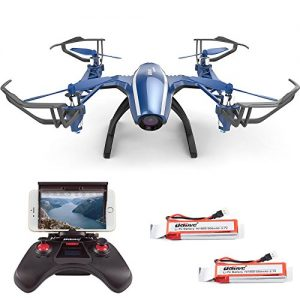 Cheerwing-Peregrine-U28W-Wifi-FPV-Drone-24Ghz-4CH-Headless-RC-Quadcopter-with-120-Wide-angle-720P-HD-Camera-iOS-Android-Phone-Control-Includes-2pcs-Battery-0