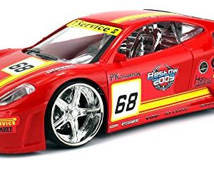 F1-Race-Car-Battery-Operated-Remote-Control-RC-Car-124-Scale-Size-Ready-to-Run-RTR-w-Bright-Flashing-Lights-Colors-May-Vary-0