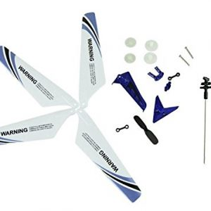 Full-Set-Replacement-Parts-for-Syma-S107-RC-Helicopter-Main-Blades-Main-ShaftTail-Decorations-Tail-Props-Balance-Bar-Gear-SetConnect-Buckle-Blue-Set-0