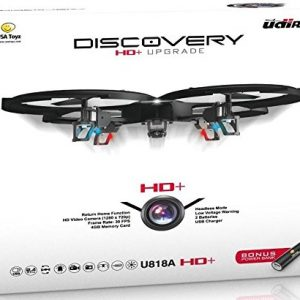 Latest-UDI-818A-HD-RC-Quadcopter-Drone-with-HD-Camera-Return-Home-Function-and-Headless-Mode-24GHz-4-CH-6-Axis-Gyro-RTF-Includes-BONUS-BATTERY-POWER-BANK-Quadruples-Flying-Time-0