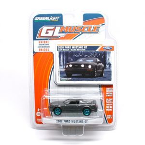 Limited-Edition-GREEN-MACHINE-Chase-Piece-2008-Ford-Mustang-GT-GL-Muscle-Series-8-2014-Greenlight-Collectibles-Limited-Edition-164-Scale-Die-Cast-Vehicle-Collector-Trading-Card-0