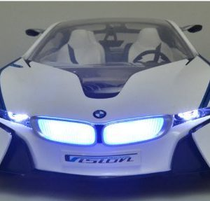 MJX-Kids-114-Scale-Licensed-BMW-I8-Vision-with-Lights-Rechargeable-Batteries-Vehicle-White-0