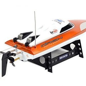 SHUANGMA-7010-4CH-Remote-Control-Boat-45CM-High-Speed-RC-Speedboat-with-Automatic-Cooling-Steering-Gear-Retreat-Function-Orange-0