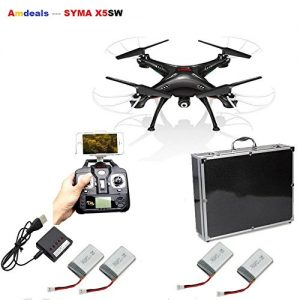 Syma-X5SW-Wifi-FPV-Real-time-24G-Newest-RC-Quadcopter-Drone-UAV-RTF-UFO-with-2MP-HD-Camera-Latest-Version-Luxury-Carrying-case-X5SW-come-in-Carrying-box-0