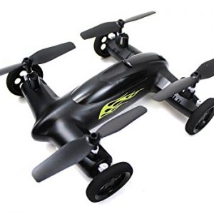 Syma-X9-Flying-Quadcopter-Car-Remote-Control-Car-and-Quadcopter-Drone-Exclusive-Matte-Black-and-Yellow-Flames-With-Bonus-Battery-Double-Flight-Time-0