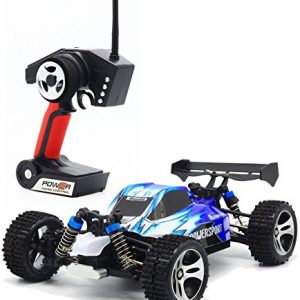 TOZO-RC-CAR-High-Speed-32MPH-4x4-Fast-Race-Cars-118-RC-SCALE-RTR-Racing-4WD-ELECTRIC-POWER-BUGGY-W24G-Radio-Remote-control-Off-Road-Truck-Powersport-Roadster-Blue-0