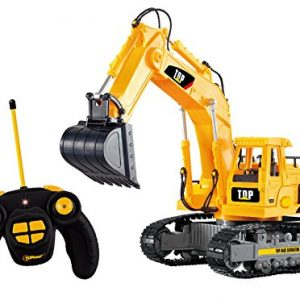 Top-Race-7-Channel-Full-Functional-RC-Excavator-Battery-Powered-Electric-RC-Remote-Control-Construction-Tractor-With-Lights-Sound-TR-111-0