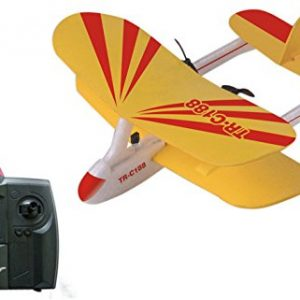Top-Race-C188-Electric-2-Ch-Infrared-Remote-Control-RC-Biplane-Airplane-RTF-Colors-Vary-0