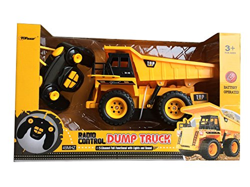 Dump Truck Control : Top race tr channel fully functional rc dump truck