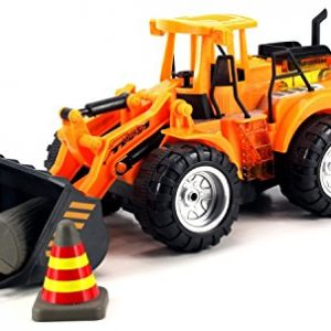 Velocity-Toys-Power-Construction-Bulldozer-Childrens-Kids-Remote-Control-RC-Truck-Rechargeable-Working-Arm-w-Lifting-Dumping-Actions-0