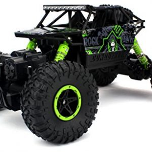 Velocity-Toys-Rock-Crawler-Remote-Control-RC-High-Performance-Truck-24-GHz-Control-System-4WD-All-Weather-118-Size-Ready-To-Run-Colors-May-Vary-0