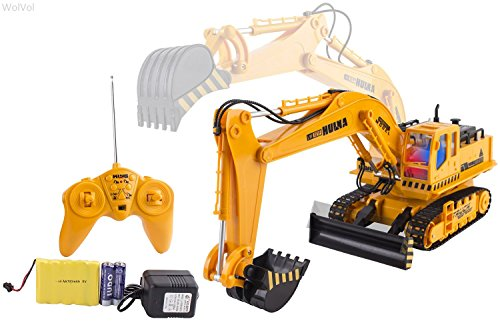 Remote Control Construction Toys : Wolvol channel full functional excavator electric rc