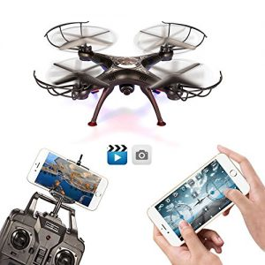 BABADIO-2-Remote-Control-Mode-4-Channel-24G-6-Axis-Gyro-RC-Headless-Quadcopter-X5SW-1-Drone-with-Wifi-Camera-FPV-for-Real-Time-Video-Transmission-Black-0