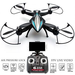 FPV-Drone-Zeus-Quadcopter-with-Camera-Live-Video-First-Person-View-Flight-in-VR-Real-Time-Feed-Control-on-your-iPhone-Andriod-Air-Pressure-Altitude-Lock-Headless-mode-Easy-Return-Home-0