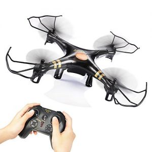 GPTOYS-Black-Aviax-24GHz-6-Axis-GYRO-RC-Quadcopter-Drone-with-Headless-Mode-360-degree-3D-Rolling-One-Key-Return-LED-Lights-ABS-Materials-DIY-Luxury-Gift-Box-Color-Black-0