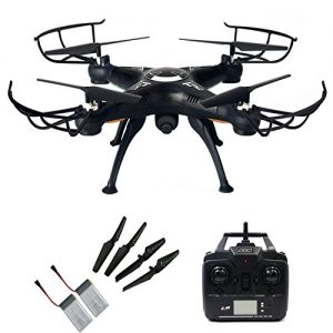 Junpro-FPV-RC-Headless-Quadcopter-with-Real-Time-Transmission-Camera-4-Channel-6-Axis-Gyro-24G-X5SW-1-Aircraft-Drone-Support-One-Key-Return-360-Degree-Rolling-Phone-And-Transmitter-Two-Way-Control-0