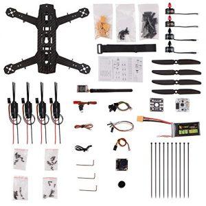 YKS-DIY-250-Racing-Quadcopter-Full-Carbon-Fiber-Frame-Kit-ARF-with-Camera-0