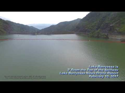 Lake Berryessa is Almost FULL in 2017! Feb 10 Drone Video Report for The Lake Berryessa News