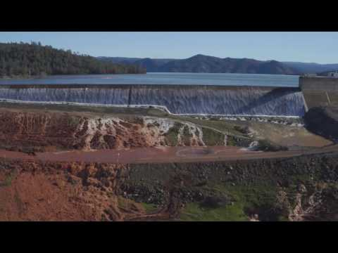 Lake Oroville Emergency Spillway, February 11th at 11AM