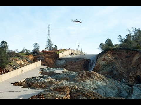 New Drone Video | Spillway to resume 40-50k cfs Soon | Lake Oroville Dam Updates | 3-12-17