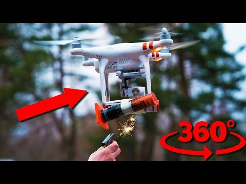 Deadly Firework Drone Attack!!! This Is Not A Toy (360 VR Video)