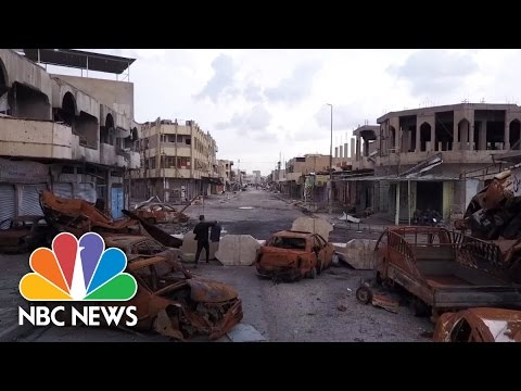 Drone Video Reveals Scale Of Destruction In Battle To Oust ISIS From Mosul | NBC News