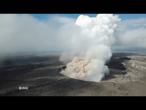 Drone Video Provides Aerial View Of Hawaii's Kīlauea Summit