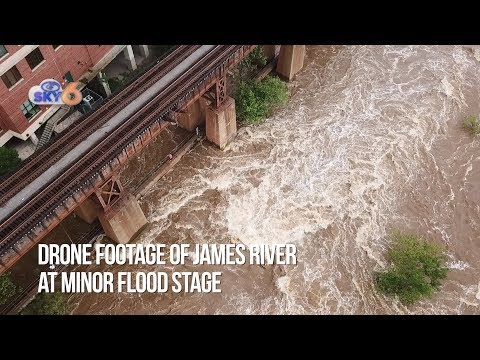 DRONE VIDEO: Flooded James river